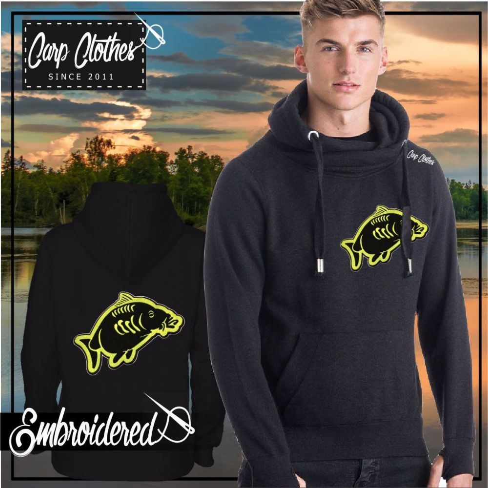 013  EMBROIDERED CARP FISHING SNOODIE BLACK